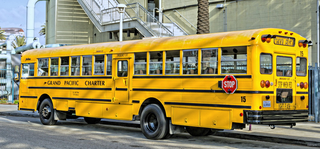 SCHOOL BUS LONG BEACH CALIFORNIEN USA